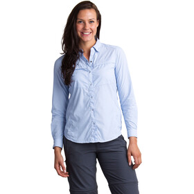 ExOfficio BugsAway Halo Stripe LS Shirt Women Chambray